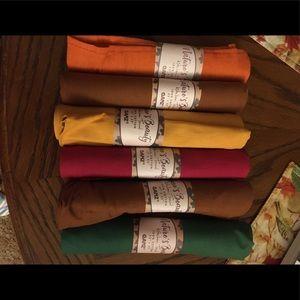 Set of 6 Fall napkins